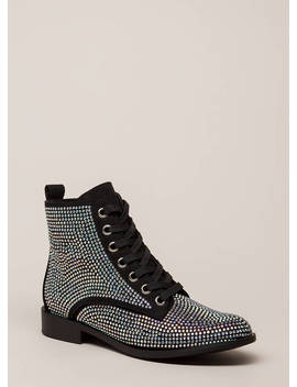 What A Jewel Short Lace Up Boots by Go Jane
