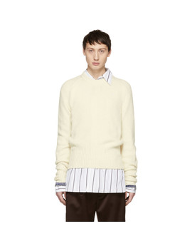 Off White Cashmere Sweater by Maison Margiela