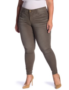 Tummy Control Corduroy Skinny Jeggings (Plus Size) by Democracy