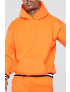 Striped Hem Hoodie   Orange by Fashion Nova