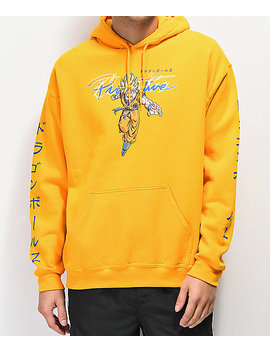 Primitive X Dragon Ball Z Nuevo Super Saiyan Goku Gold Hoodie by Primitive