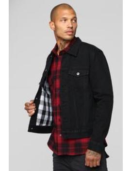Good In The City Denim Jacket   Black by Fashion Nova