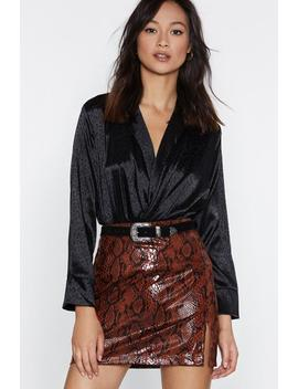 Jacquard Wrapover Shirt by Nasty Gal