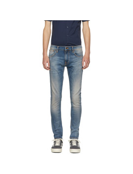 Blue Tight Terry Jeans by Nudie Jeans