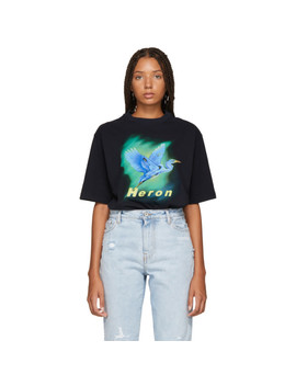 Blue Airbrush T Shirt by Heron Preston