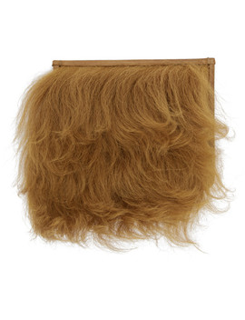 Brown Furry Card Holder by Maison Margiela