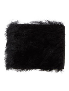 Black Furry Wallet by Maison Margiela