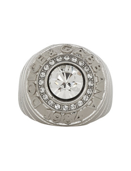 Silver Logo Ring by Dolce & Gabbana