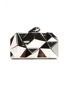 Vivianna Geometric Clutch   Silver by Fashion Nova