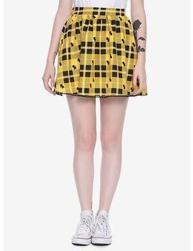 Harry Potter Hufflepuff Plaid Skirt by Hot Topic