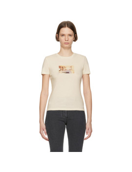 Off White Gellert Graphic T Shirt by Nanushka