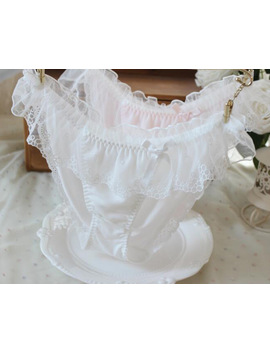 100 Percents Real Photos Top Good Quality M L Lovely Cute Lolita Kawaii Fairy Princess Sexy Lace Panties Underwear Brief Thong Wp245 by Kadishuyuan