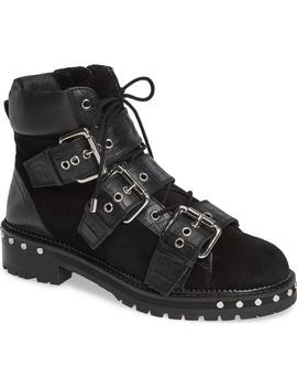 Animal Studded Boot by Topshop
