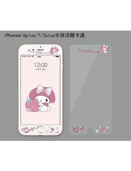 3 D 9 H Tempered Glass For Iphone 8 7 6 6s Plus Cute Cartoon Relief Screen Protector For Iphone 6 7 8 6s Premium Protective Film by Mllse