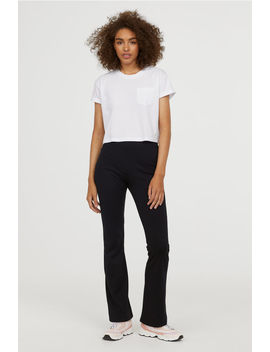 Flared Jersey Pants by H&M