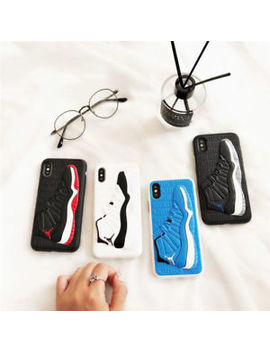 New 3 D Jordan Shoe Silicone Shockproof Soft Back Case For I Phone X 6 6s 7 8 Plus by Unbranded/Generic