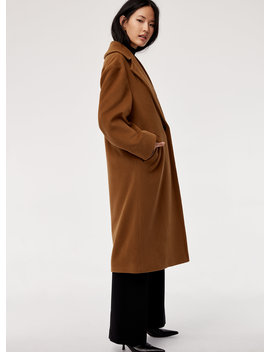 Carolee Coat   Relaxed, Wool Blazer Coat by Babaton
