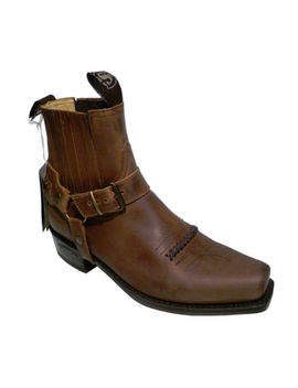 Sendra Boots Style 6445 Brown Leather Western Cowboy Biker Boots by Sendra Boots