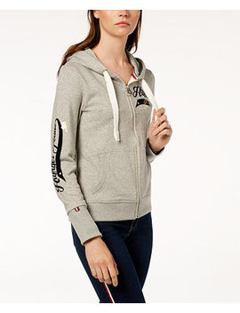 Signature Zip Front Hoodie, Created For Macy's by Tommy Hilfiger