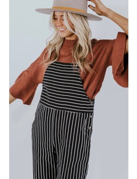 Casey Stripe Jumpsuit by Roolee