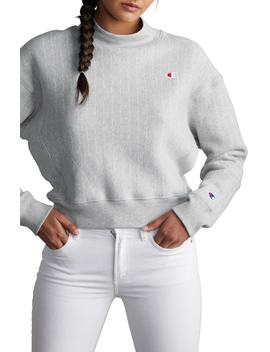 Mock Neck Reverse Panel Crop Sweatshirt by Champion