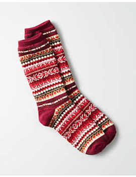 Aeo Fair Isle Crew Sock by American Eagle Outfitters