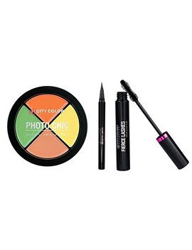 City Color  Essentials Pack (Eyeliner, Mascara, Color Correction Wheel) by City Color Cosmetics