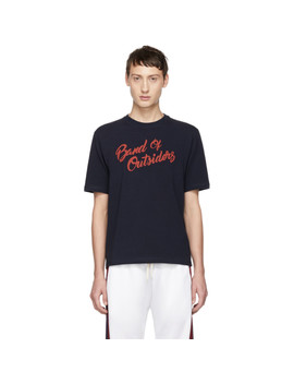 Navy Logo Alpine Band T Shirt by Band Of Outsiders
