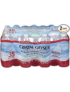 Crystal Geyser Alpine Spring Water, 16.9 Oz Bottle, 35 Count (2 Pack) by Crystal Geyser