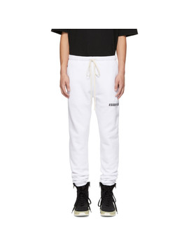 White Logo Lounge Pants by Essentials
