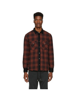 Reversible Red & Black D Wear Shirt by Diesel