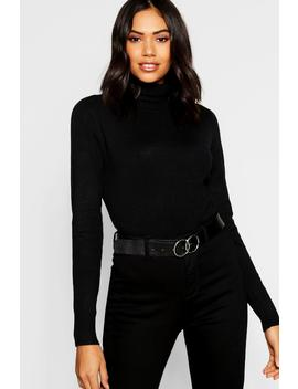Knitted Soft Knit Premium Roll Neck Top by Boohoo