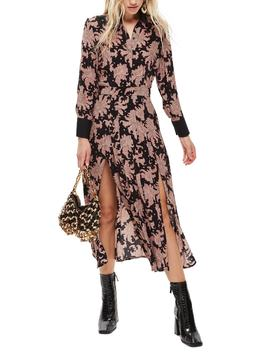 Paisley Midi Shirtdress by Topshop