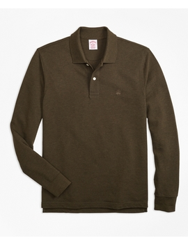 Original Fit Supima® Long Sleeve Performance Polo Shirt by Brooks Brothers