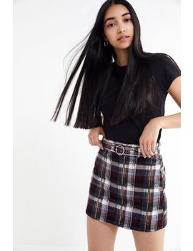 Bdg Karina Plaid Corduroy Mini Skirt by Bdg