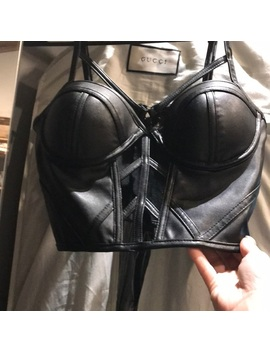 Patent Leather Crop Top With Zipper Back   Nwt by Charlotte Russe