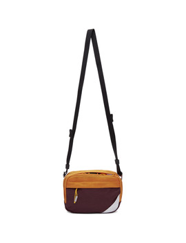 Burgundy Blå Konst Hidey Bum Bag by Acne Studios