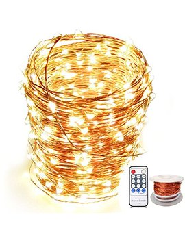 Org Memory Copper Led Fairy Lights, (80 Ft, 240 Le Ds, Warm White, Ul Listed Power Adapter), Vine Lamp, Garland Lights Remote Wedding, Xmas, Outdoor Indoor Room Decor by Org Memory