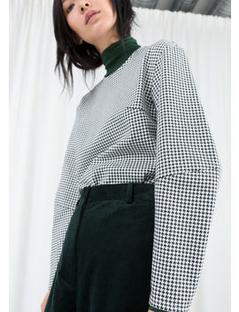 Cotton Blend Houndstooth Top by & Other Stories
