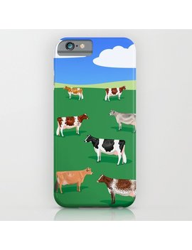 Dairy Breeds // Hillside I Phone Case by