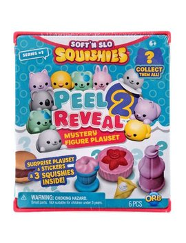 Soft N Slo Squishies Peel 2 Reveal Mystery Figure Playset Series 1 by Orb