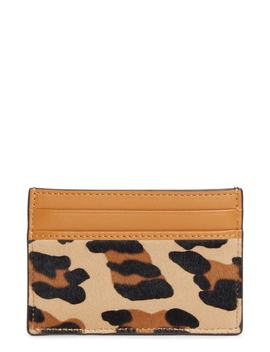 Mini Leopard Calf Hair Card Case by Mcm