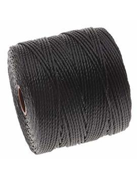 Beadaholique Slbc Bk Bead Smith Super Lon Twisted Nylon Cord, Size 18, Black by Beadaholique