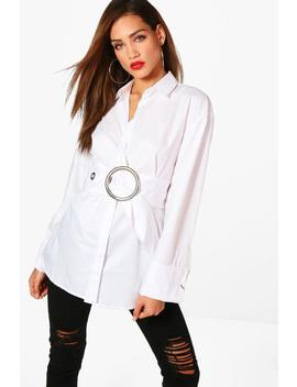 Tall Belted Oversized Shirt by Boohoo