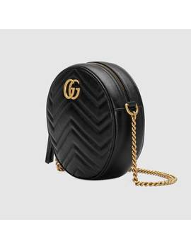 Gg Marmont Mini Round Shoulder Bag by Gucci