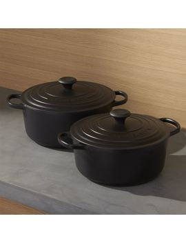 Le Creuset ® Signature Round Licorice Dutch Ovens With Lid by Crate&Barrel