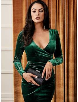 Theana Velvet Midi Dress by Guess