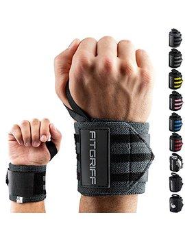 Fitgriff Handgelenk Bandagen [Wrist Wraps] 45 Cm Handgelenkbandage Für Fitness, Bodybuilding, Kraftsport & Crossfit   Für Frauen Und Männer   2 Jahre Gewährleistung by Amazon
