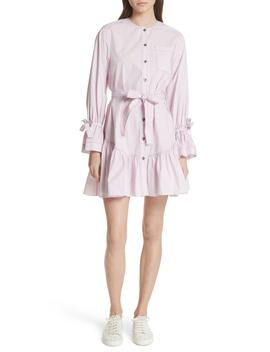 Ruffled Poplin Shirtdress by La Vie Rebecca Taylor