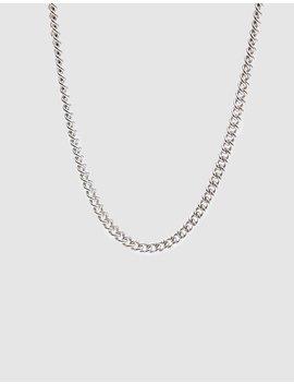 Silver Chain Collar Necklace by Loren Stewart